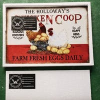 Personalized Chicken Happy Hens Fresh Eggs Daily Customized Classic Metal Signs
