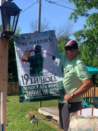 Personalized Golf Proudly Serving Green Customized Flag