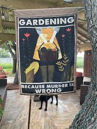 Gardening Because Murder Is Wrong Garden Flag