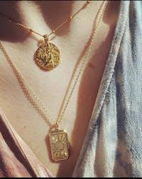 Le Monde Gold Tarot Necklace