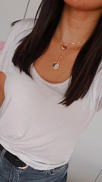 Heart Gold Locket Necklace