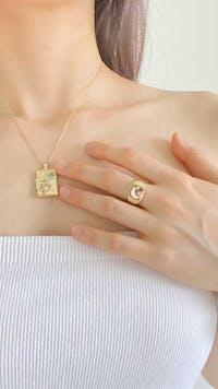 Light Flow Gold Locket Necklace