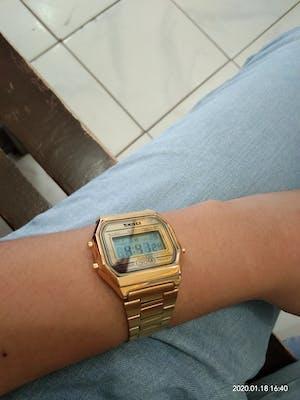 SKMEI 1123 Gold Unisex Stainless Steel Watch