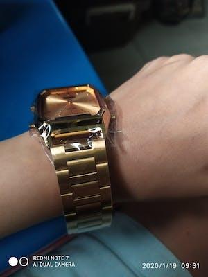 SKMEI 1220 Gold Stainless Steel Unisex Watch
