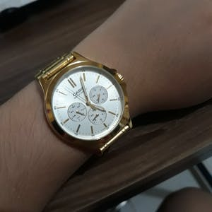 Casio MTP-V300G-7A Gold Stainless Watch for Men