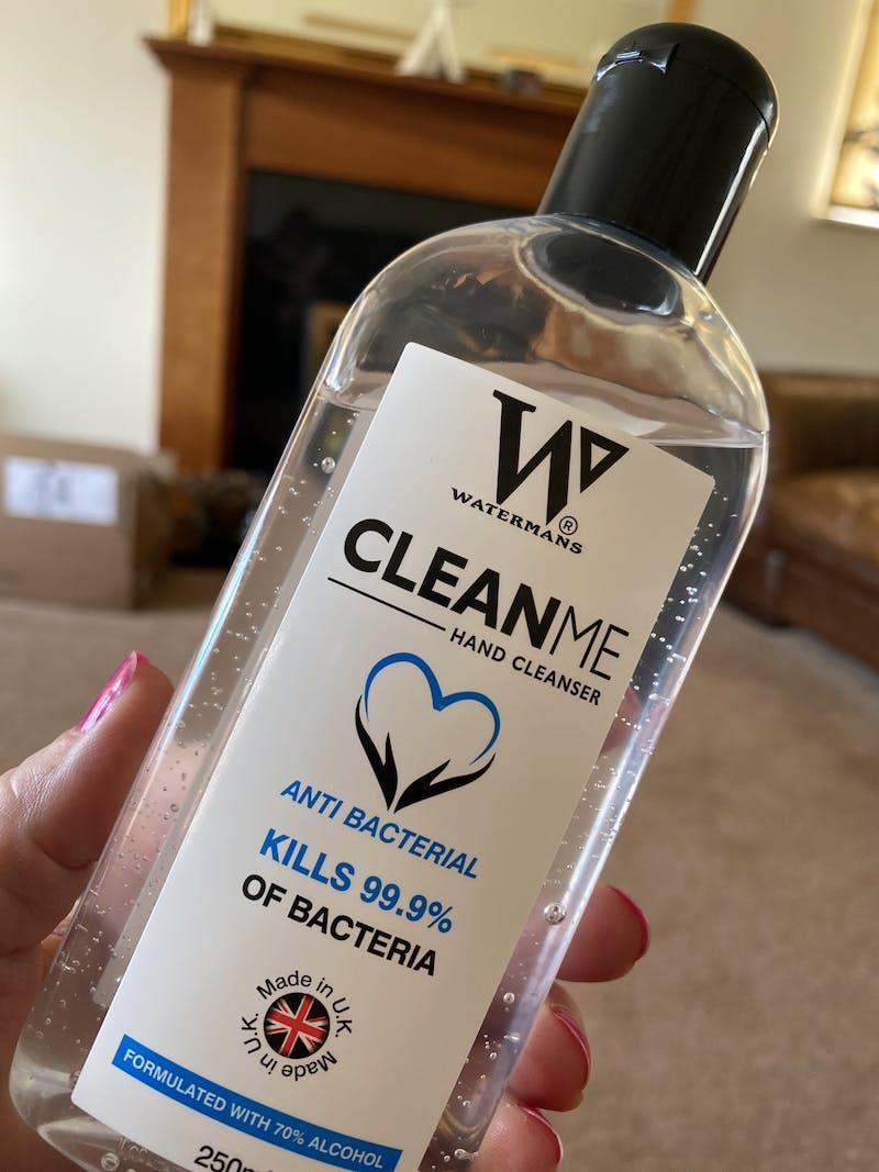 70% Alcohol Gel 250ml - Clean Me 250ml  - 70%  Antibacterial hand cleaner
