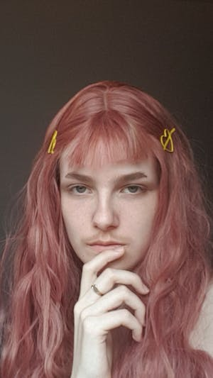 Rose Pink Wavy Synthetic Wig NS017