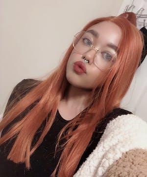 Auburn Straight Yaki Lace Front Synthetic Wig LF624