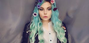 """Blue Green Ombre With Dark Roots Wavy 13"""" x 6"""" Lace Front Synthetic Wig LFS002"""