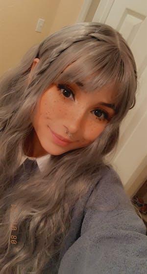 Grey Wavy Synthetic Wig NS027