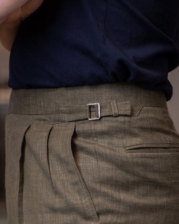 Lanitex Easy Care Melange Linen trousers