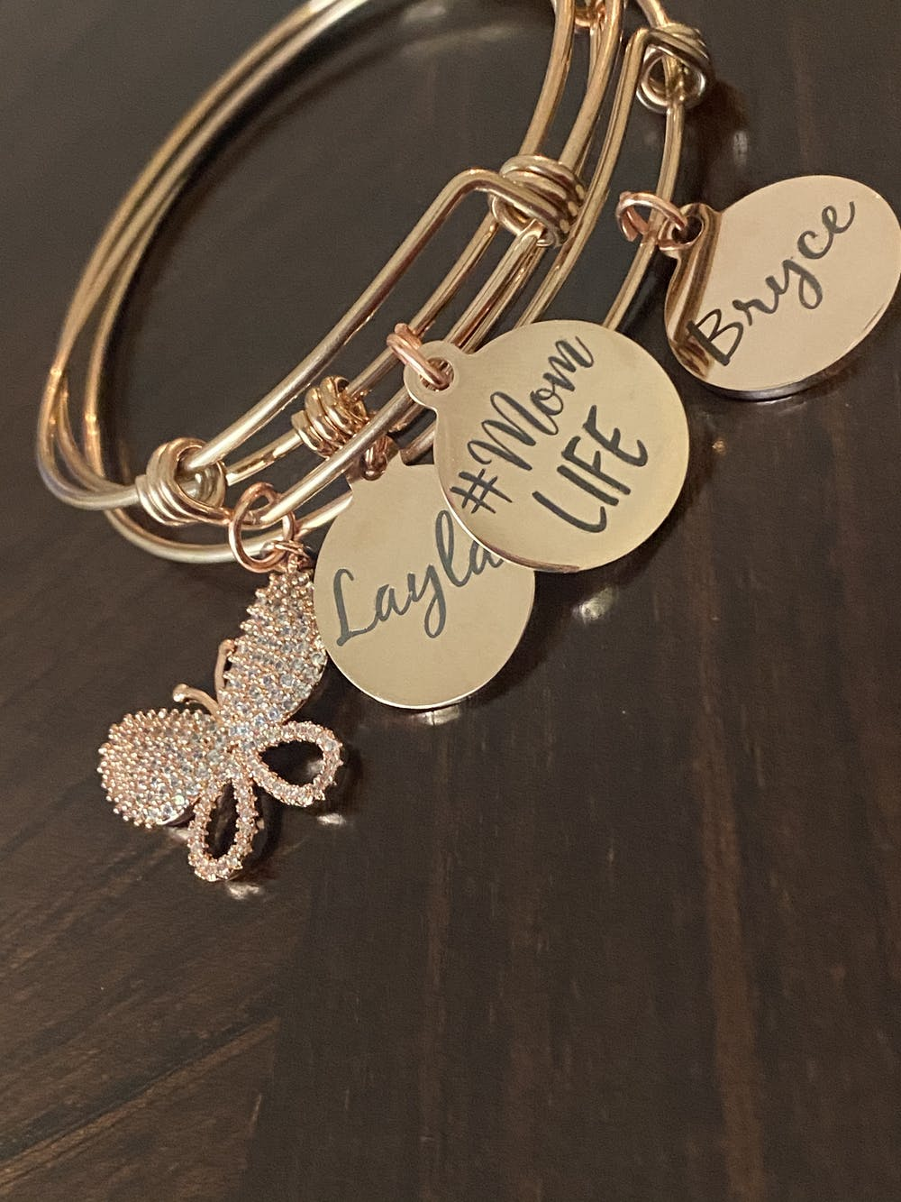 Custom Text - Rose Gold Personalized Charms