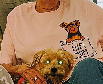 Pocket Dog Dad Dog Mom Unisex Personalized Shirt