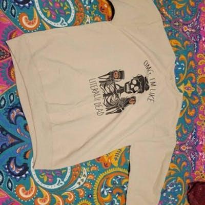 OMG, I'm Like Literally Dead Shirt, Personalized Monogram Name, Funny Halloween, Fall Shirt, Pumpkin spice shirt